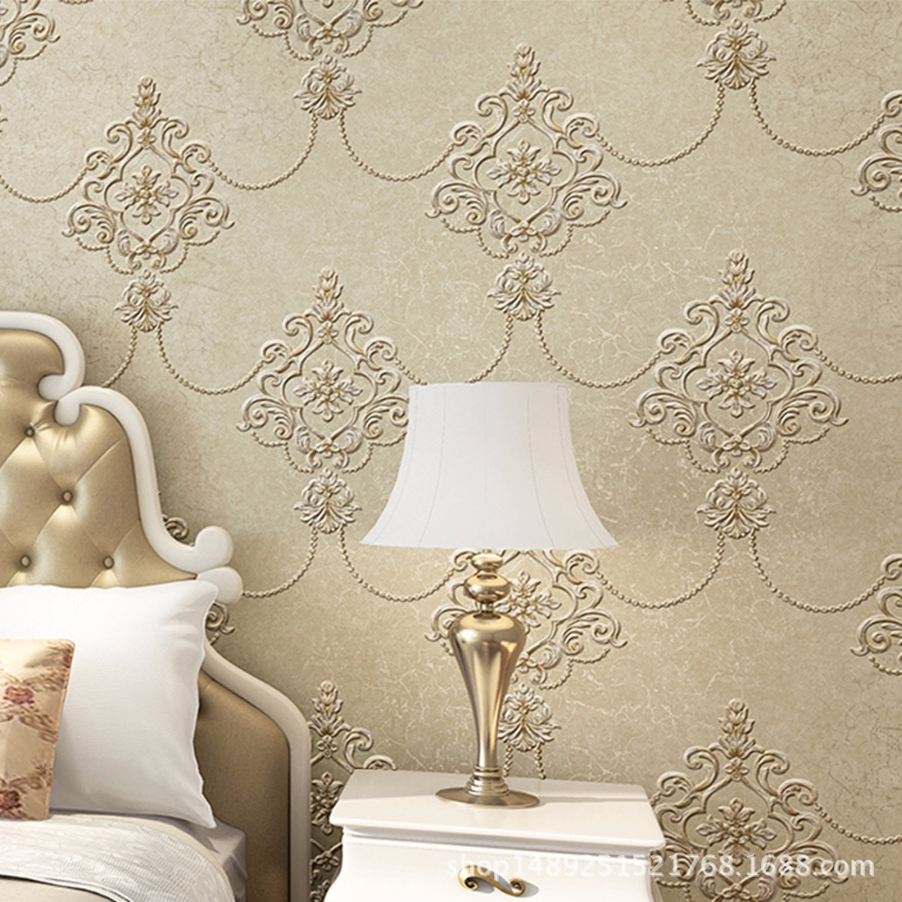 Beibehang Embossed Chinese Wallpaper Bedroom Living Room Sofa TV Background Vintage European 3D Wallpaper roll papel de parede<br>
