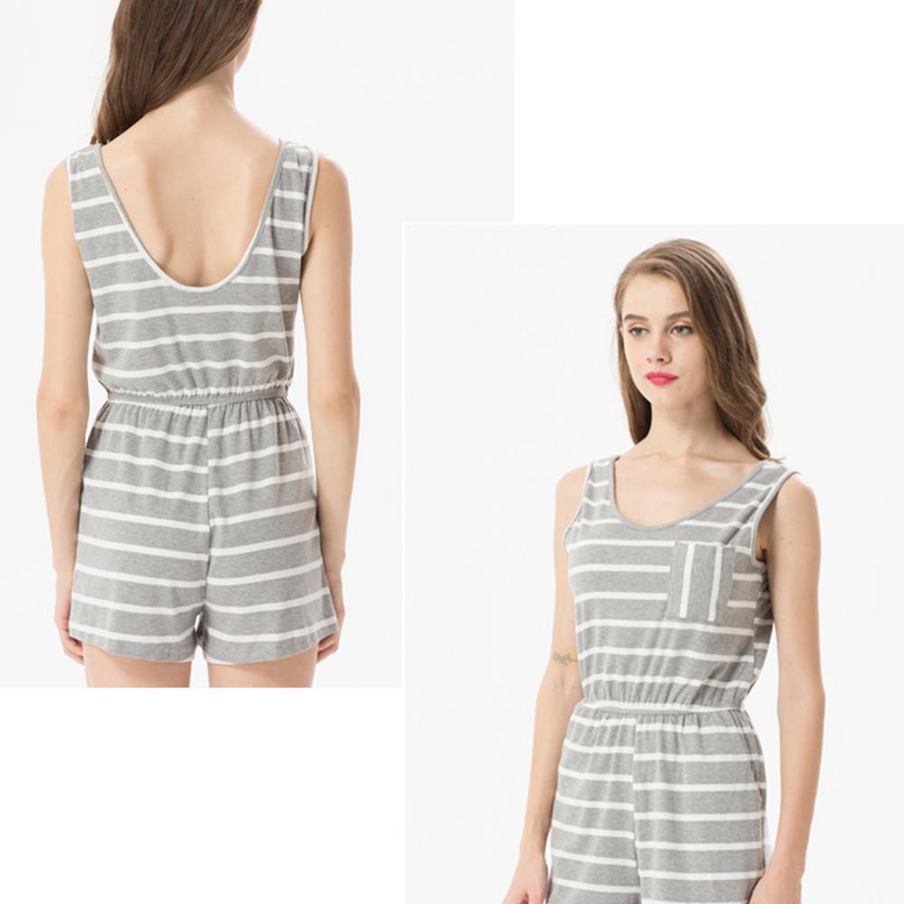 Siskakia mody młodzieżowej Letnie nastolatek dziewczyny Playsuit Przebrania paski patchwork slim fit krótkie elegancki 100% bawełna odzież różowy 18