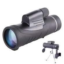 Portable 10X42 Zoom Wide Angle Monocular Handheld Telescope Lens HD Optic Eyepiece Night Vision Lens with Universal Phone Holder