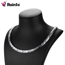 RainSo Bio Energy Magnetic Necklace 2017 Fashion Healing Titanium Power Necklaces Classic Link Chain For Women Health Jewelry(China)