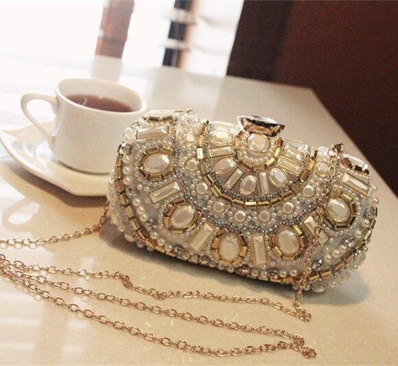 Beaded women vintage evening bags luxury women shoulder bags high quality diamonds clutch bag wedding purse free shipping<br><br>Aliexpress