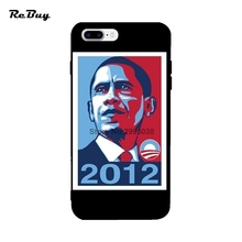 Obama For Iphone 6/6s/6s plus/6plus Case Soft TPU Anti-knock Protect Covers For Iphone 7/7plus Glaze Colorful 4.7/5.5Inch(China)