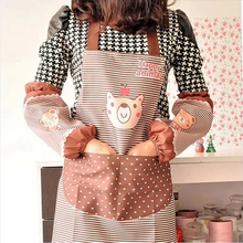 Hot Sale Waterproof  Women apron Animation Adult Women Lady's Kitchen Cooking Pinafores Aprons Cartoon Apron