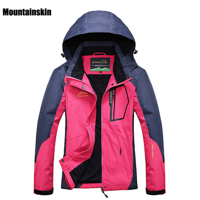 Women Outdoor Softshell Jackets Spring Autumn Waterproof Hiking Coats Windbreaker Thermal Sports Jackets For Camping Ski RW035<br>