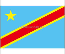 Congo Kinshasa national flag 3ftx5ft banner flag 100D Polyester Flag metal Grommets 90x150cm High quality   601186