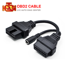 OBD2 cable for Mitsubishi 12Pin to 16Pin For sprinter 14pin Diagnostic Tool Adapter Connector OBDII For audi 2x2 For Fiat 3pin(China)