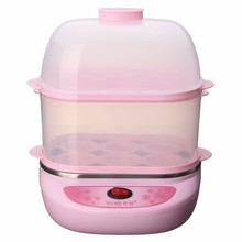 Automatic Power Egg Boiler Electric Egg Boiler Cooker Steamer Egg Custard Kitchen Tools 2 layers stainless steel Y-ZDQ3