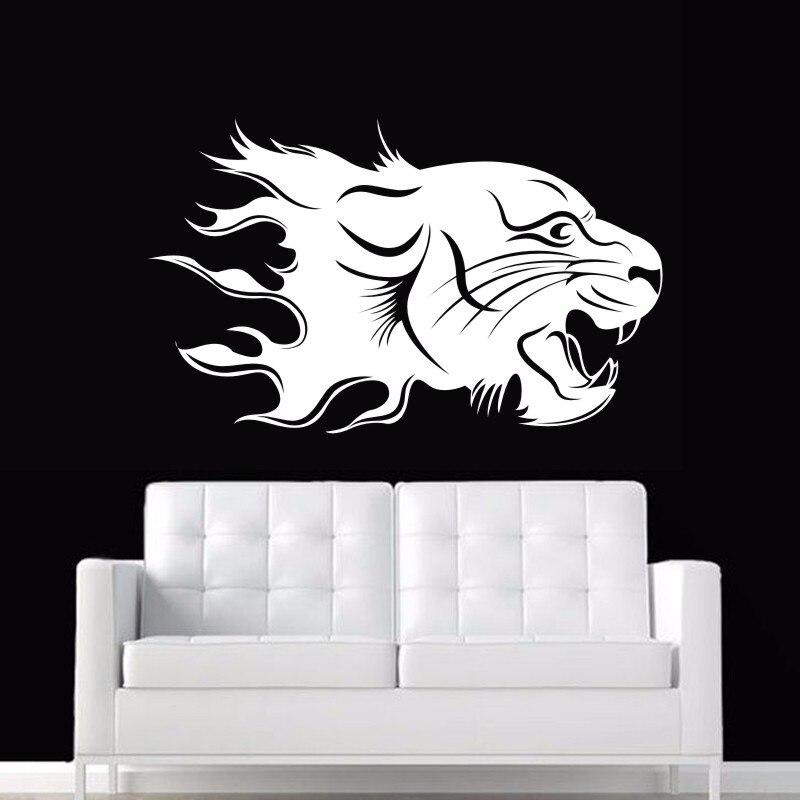 DCTAL Jaguar Wall Sticker Tiger Decal Posters Vinyl Wall Art Decals Pegatina Car Decal Decor Mural Animal Sticker