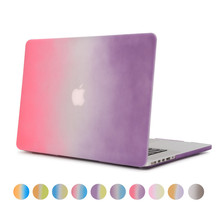 Case for Apple Macbook air pro retina 11 12 13 15 rainbow colorful 11.6 12.1 13.3 15.4 inch with free english keyboard cover(China)