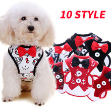 xinte Pet Products Dog harness without leash Bow tie Button Gentleman Soft Breathable Puppy Cat Collar Pets Chest 10 types S/M/L(China)