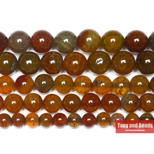 "Free Shipping 15"" Natural Stone Brown Dragon Vein Agates Round Loose Beads 6 8 10 12MM Pick Size For Jewelry Making"