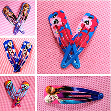 6 Pairs Children Pig Hair Accessories Ponys Hair Clip Cartoon Anna Elsa Hairpins Cute Hair Ornaments wholesale