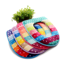 Winter warm u-shaped toilet seat cover coral fleece thicken carpet long plush mat pad comfortable baby potty seat toilet case