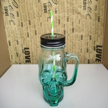 Creative New Fashion Punk Death Skull Glass My Bootle Drink Beer Bottles Mason Cup Copo Vidro My Bootl Wine Glass Verre Vidro