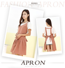 2016 NEW Korean garden Bicycle bust cotton kitchen apron cute aprons gowns tracksuit woman Sleeveless fashion Apron