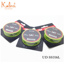 Electronic Cigarette Accessorises UD newest packing of 24/26/28 ga stainless steel coil wire UD ss316l wires