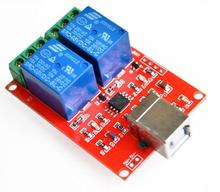 USB PC Intelligent Control Module 2 Channel 5V Relay Module