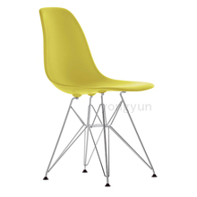 polymer furniture The modern popular plastic chair Leisure dining chair Composition of synthetic resin and solid legs 4PCS