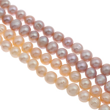 "Pearl: 10-11mm pink purple Freshwater Pearl Beads DIY Loose Beads For Bracelet Or Necklace Making Beads Strand 15.5"" Wholesale"