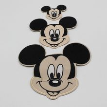 1pcs / lot mini Mickey Mouse series pattern patch clothing thermal transfer heat sink custom wholesale(China)
