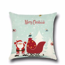 Health christmas Comfortable environment Christmas snow sled Pillow Case for baby Children New year