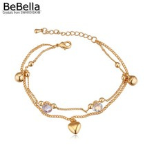 BeBella trendy bell charm bracelet for gilrs made with Swarovski Elements
