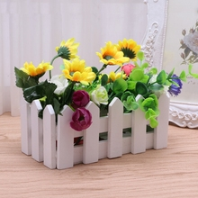 10cm 16cm 30cm Wooden Fence With Foam For Artificial Flower Vase Home Decoration jun23