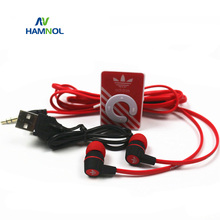HAMNOL 2017 Mini MP3 Player MP3 Clip Support Micro SD Card MP3+ Stereo Earphones Headset + Micro USB Charging Cable Hot Sale
