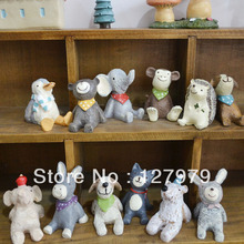 on sale! Zakka, home decor, genuine, healing, looking at the sky, small animal, resin crafts, animal ornaments, 12 kinds/set ~(China)