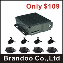New arrival 4 channel CAR DVR kit, used for taxi, bus, truck, private cars, support VGA output