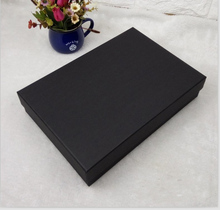black paper box of high quality for gifts packing, 37*27*5cm, logo printing is available