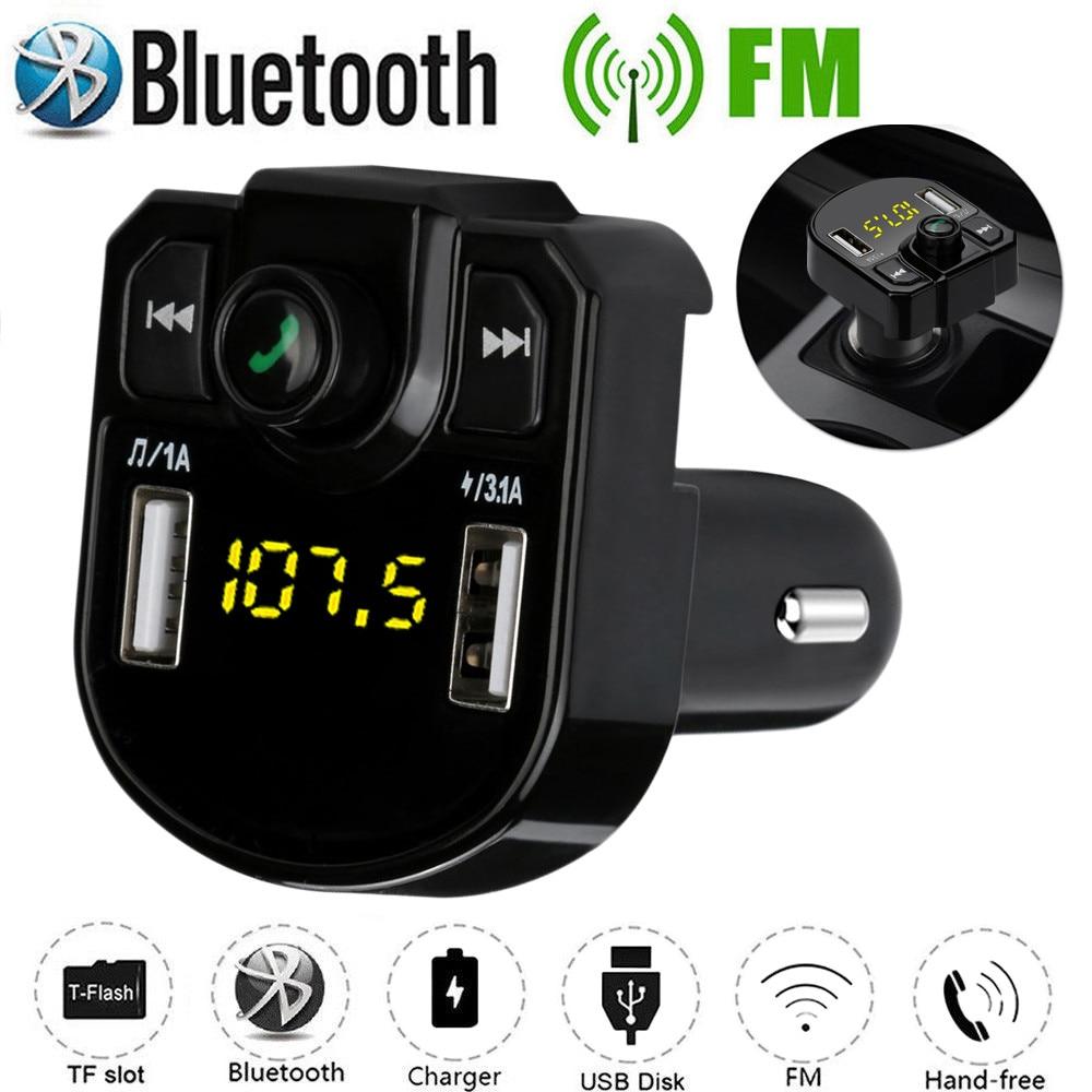 Wireless FM Transmitter Hands-free Car Kit Radio Modulator MP3 LCD USB Charger