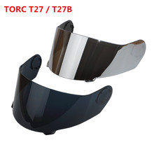 Torc T27 T27B MOTORCYCLE Helmet Replacement Face Shield Visor Blinc Bluetooth modular flip up helmets glass full face lens(China)