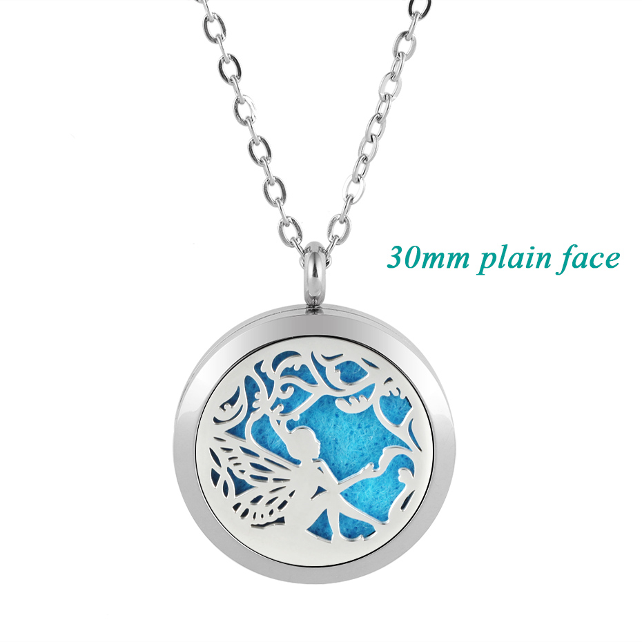 fair diffuser necklaces silver gold rose gold 20mm 25mm 30mm locket jewelry -219 (3)