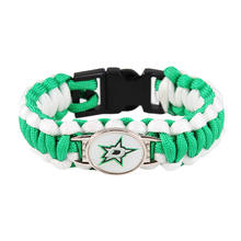 Ice Hockey Braided Bracelet NHL Dallas Stars Charm Paracord Survival Bracelet For Men Outdoor Camping Bracelet Jewelry Gifts