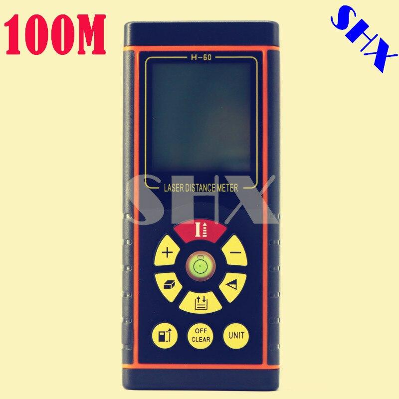 100M Digital Laser Distance Meter Rangefinder Laser Roulette Laser Rangefinder Laser Distance Meter Measuring Meter<br>