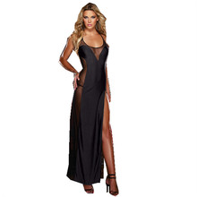 Plus Size S M L XL 2XL 3XL 4XL 5XL 6XL  Lace UP Black Backless Evening Dress Lingerie Gown Sleepwear Chemise