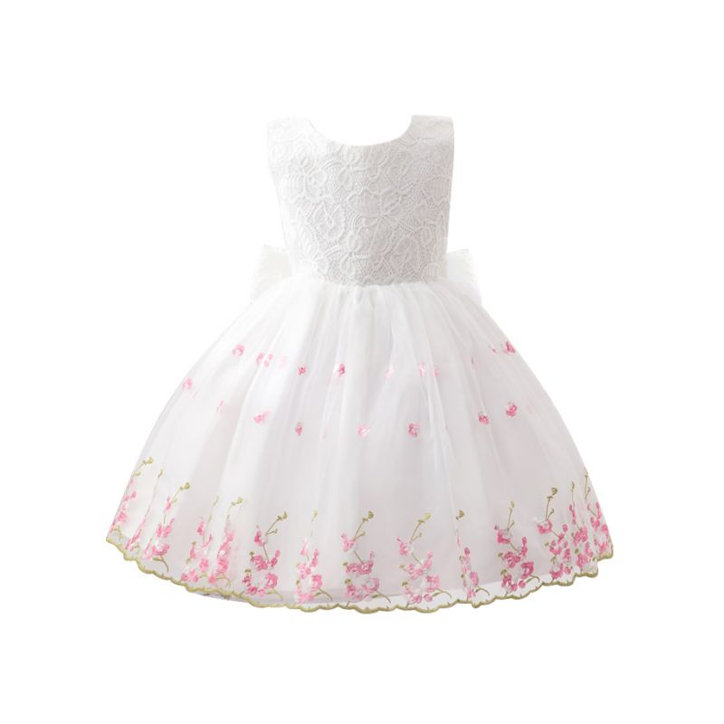 Flower Child Girls Princess Bow Dress Toddler Wedding Party Pageant Tulle Dress<br><br>Aliexpress