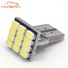 T10 W5W 12SMD 1206 Car Wedge White LED DC 12V Canbus No Error Decoder Car External Lights License Plate Corner lamp Backup Lamp(China)