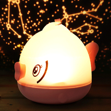 3D Kissing Gourami LED Night Light Remote Control Zodiac Signs Atmosphere Projection Lamp for Children\'s Room Decoration