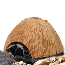 Real Coconut Home for Aquarium Fishi Hamster Hermit crabs spider snakes Non-toxic Natural Calming Comfortable Hideout