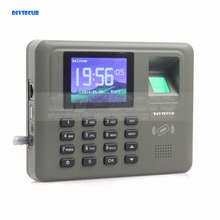 DIYSECUR 2.8inch Color Biometric Fingerprint Time Clock Attendance Digital Electronic Reader Machine Clock Employee Payroll(China)