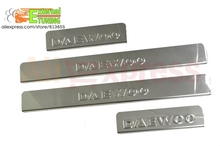 Door sill for Daewoo Matiz 1996-2016 with letters DAEWOO 4 pcs/set plates stainless stell car styling protection accessories
