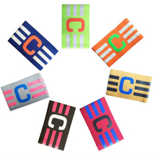 Football Elastic Fabric Captain Armband Multicolor Hockey Rugby Sports Adjustable Games Tournament Soccer Skippers Armbands