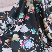 Dresses Material Imitate Silk Soft Abit Stretch Floral Print Satin Fabric