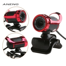 480P USB 2.0 640*480 Webcam Web Cam Camera & Mic Clip-on for PC Laptop Notebook High Quality Brand New