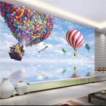 3d room wallpaper custom murals non-woven wall sticker HD Flying house global TV background painting photo wallpaper for wall 3d