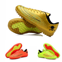 Cheap Boys Mens Kids Soccer Shoes Hard Court Outdoor Sneakers Trainers Adults Sport Shoes Soccer Cleats Football Boots Superflys(China)