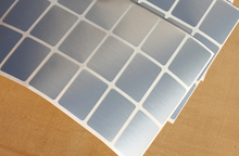 96 x Blank Silver Label Tag 20 x 30 mm Plain Price Vinyl Sticker Sticky Label Tags