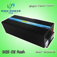 Off grid inverters 6000w with CE,RoHS Approved,Pure Sine Wave Power Inverter 6000w(China)